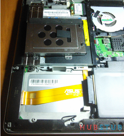 Установка SSD в ноутбук ASUS N750JV.