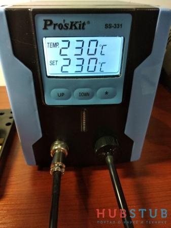 Электрический оловоотсос Pro'sKit SS-331H.